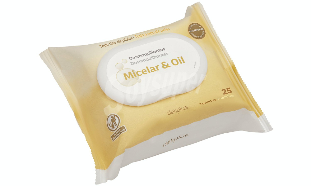 Toallitas Faciales Micelares con Aceite Deliplus (paquete amarillo)