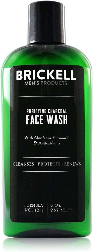 Brickell Men's Limpiador Facial Depurativo con Carbón para Hombres