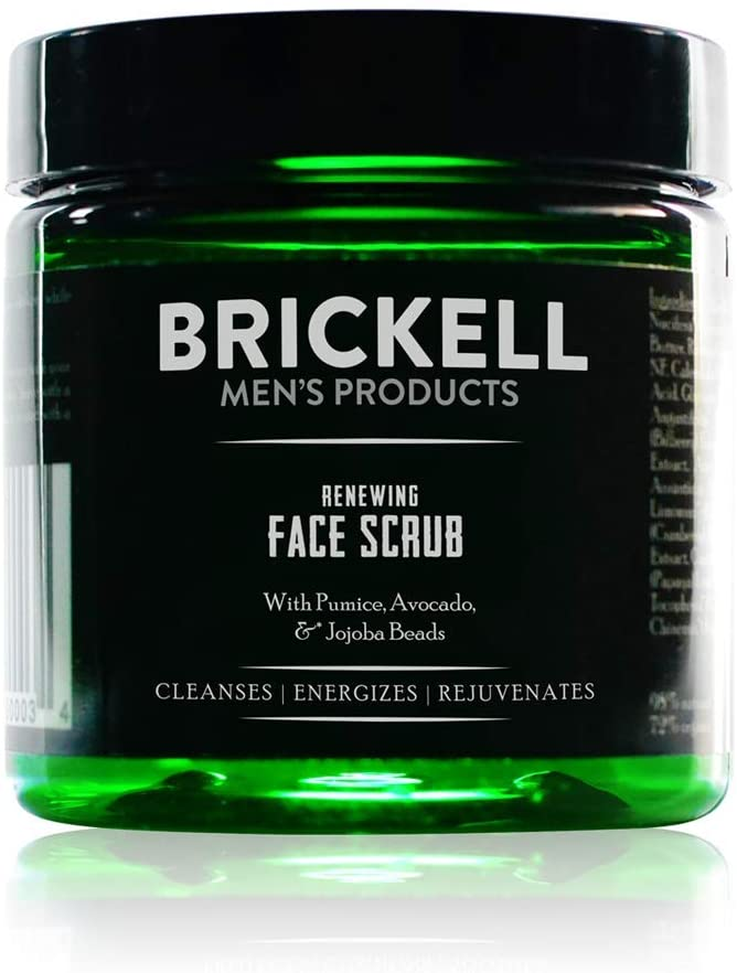 Brickell Men's Products Crema Exfoliante Facial Renovadora para Hombres