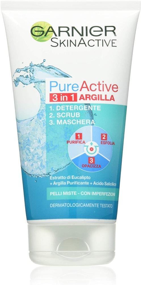 Garnier Skin Active Gel Limpiador 3 en 1 Arcilla